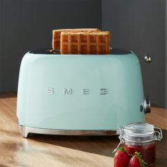 Green Cushions Living Room Light Blue Carpet Ideas Smeg Pastel 2-slice Retro Toaster + Reviews | Crate ...