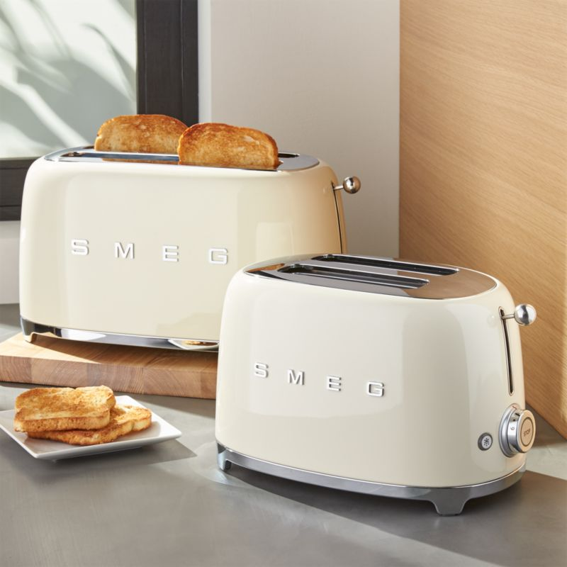SMEG Cream Retro Toasters Crate And Barrel