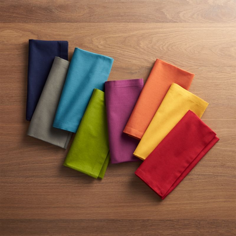 Set of 8 Spectra Cloth Dinner Napkins  Crate and Barrel