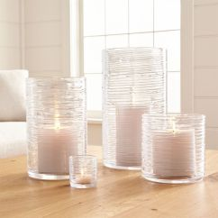 Living Room End Table Decorating Ideas Indian Spin Glass Hurricane Candle Holders/vases | Crate And Barrel