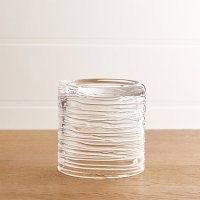 Spin Small Glass Pillar Candle Holder | Crate and Barrel