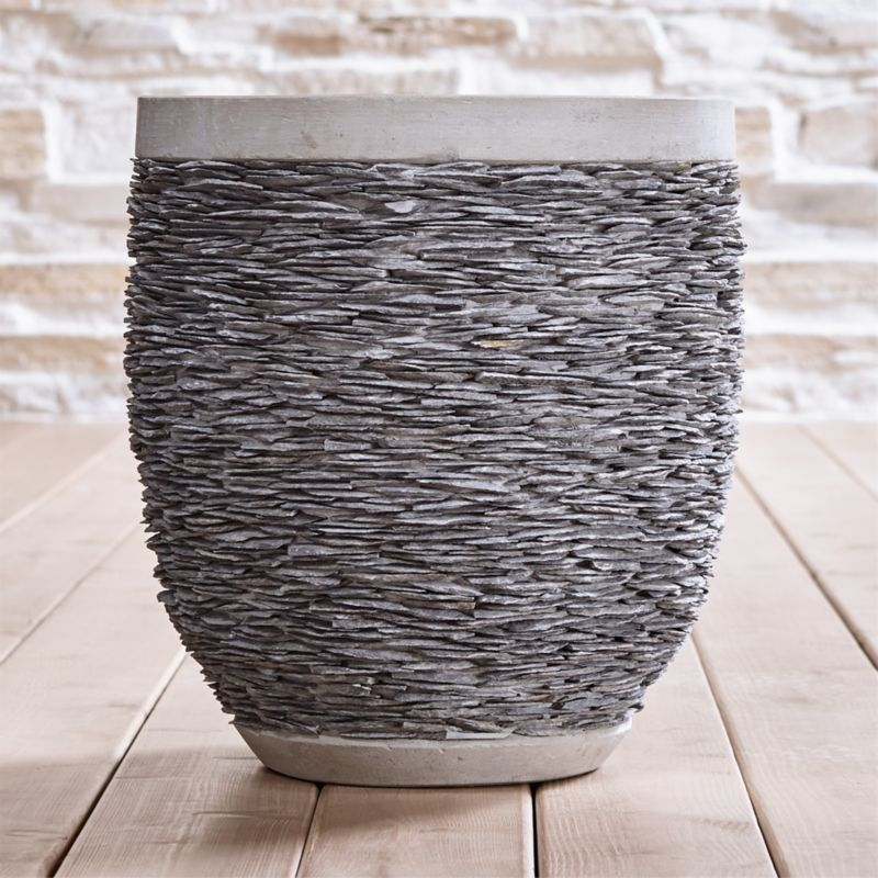 Stacked Large Rock Planter Reviews Crate And Barrel