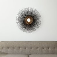 Starburst Round Wall Mirror | Crate and Barrel