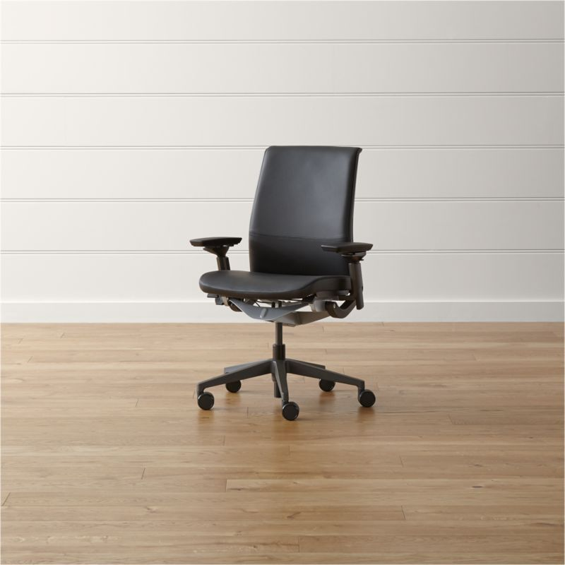 steelcase chair picture frame moulding below rail think reviews crate and barrel