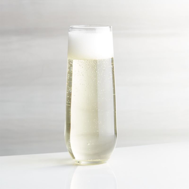 Stemless Flute Glass 9 oz  Reviews  Crate and Barrel