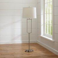 Stirrup Brushed Nickel Floor Lamp   Crate and Barrel