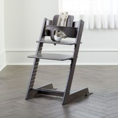 Stokke High Chair Covers For Plastic Folding Chairs Tripp Trapp By Hazy Grey Reviews Crate And Barrel