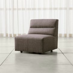 Crate And Barrel Armless Chair Iconic Leather Sydney Reviews