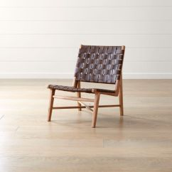 Wood And Leather Chair Small Taj Strap Reviews Crate Barrel