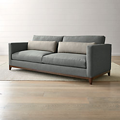 2 seater love chair swedish dining taraval 3 seat oak wood base sofa reviews crate and barrel