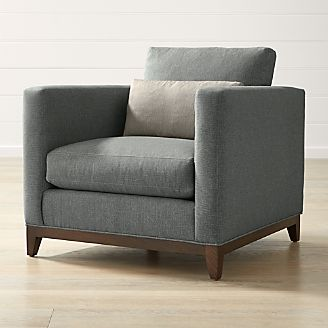clara chair crate and barrel wing back slip cover living room chairs (accent & swivel) |