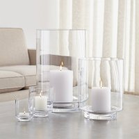 Taylor Glass Hurricane Candle Holders | Crate and Barrel