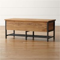 Teca Storage Trunk-Bench   Crate and Barrel