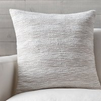 """Tess 23"""" Pillow with Feather-Down Insert 