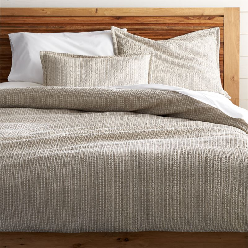 beige sleeper sofa replacement foam for cushions glasgow tessa duvet covers and pillow shams | crate barrel