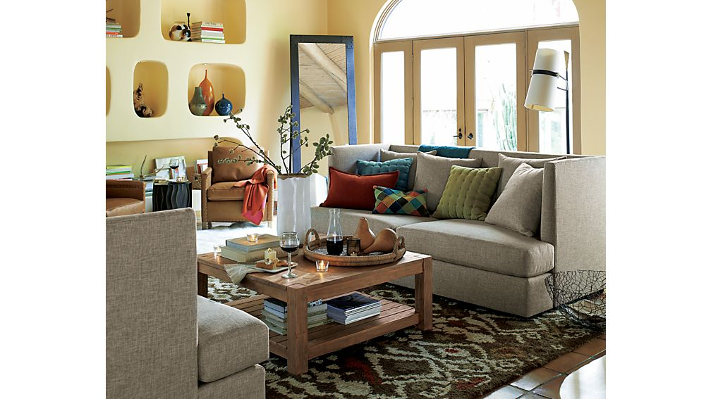 crate and barrel shelter sofa dimensions sherrill furniture tables edgewood square coffee table |