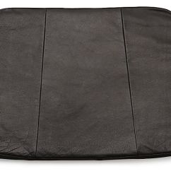 Leather Chair Cushions Where To Buy Covers For Folding Chairs Tig Dining Black Cushion Reviews Crate And Barrel