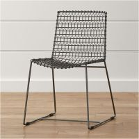 Tig Metal Dining Chair | Crate and Barrel