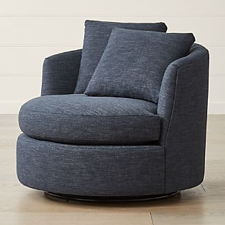 swivel chair in living room cheap leather office chairs accent crate and barrel tillie