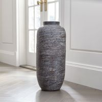 Timber Grey Floor Vase + Reviews | Crate and Barrel