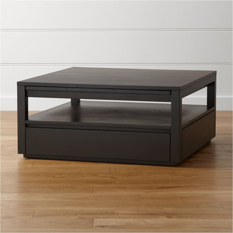 high end leather sofas bed sofa combo tourney square coffee table + reviews | crate and barrel