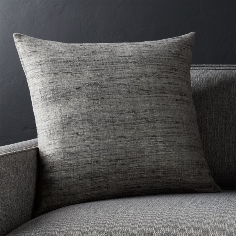 20 Quot Grey Square Pillow Crate And Barrel