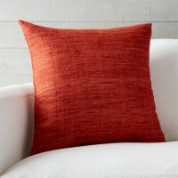 "Trevino Terra Cotta Orange 20"" Pillow | Crate and Barrel"