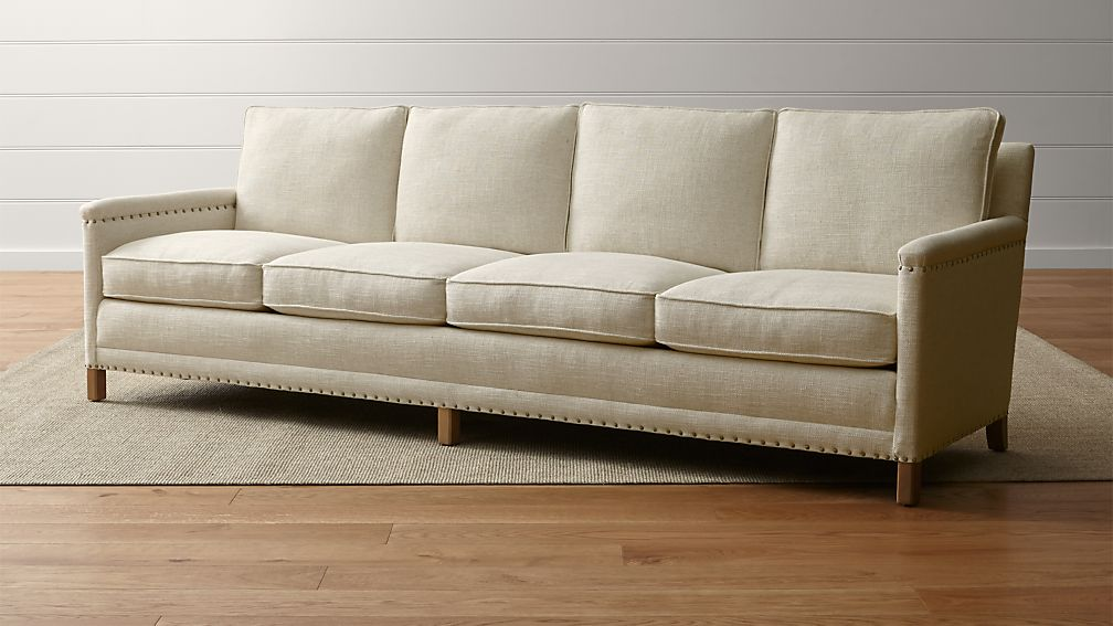 Trevor Oatmeal 4 Seater Sofa Crate And Barrel