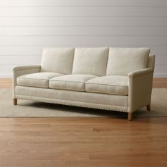 Oatmeal Sofa Foam Cushions For Beds Trevor Reviews Crate And Barrel