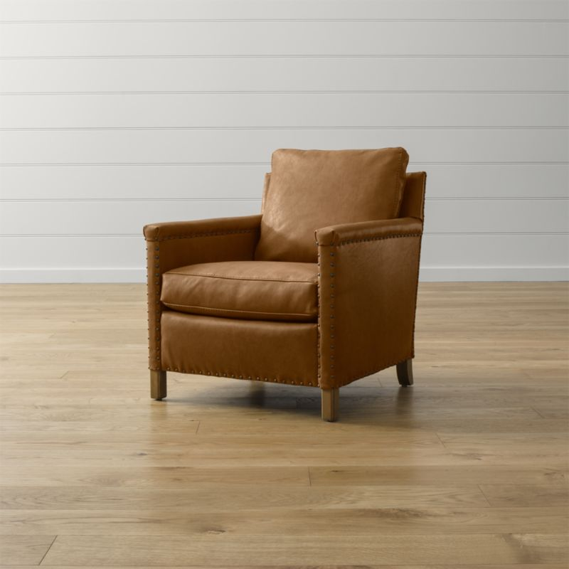 Trevor Leather Chair  Reviews  Crate and Barrel