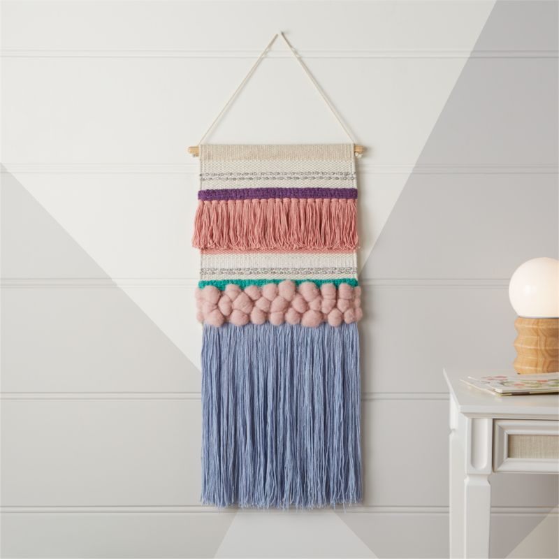 textured woven wall hanging