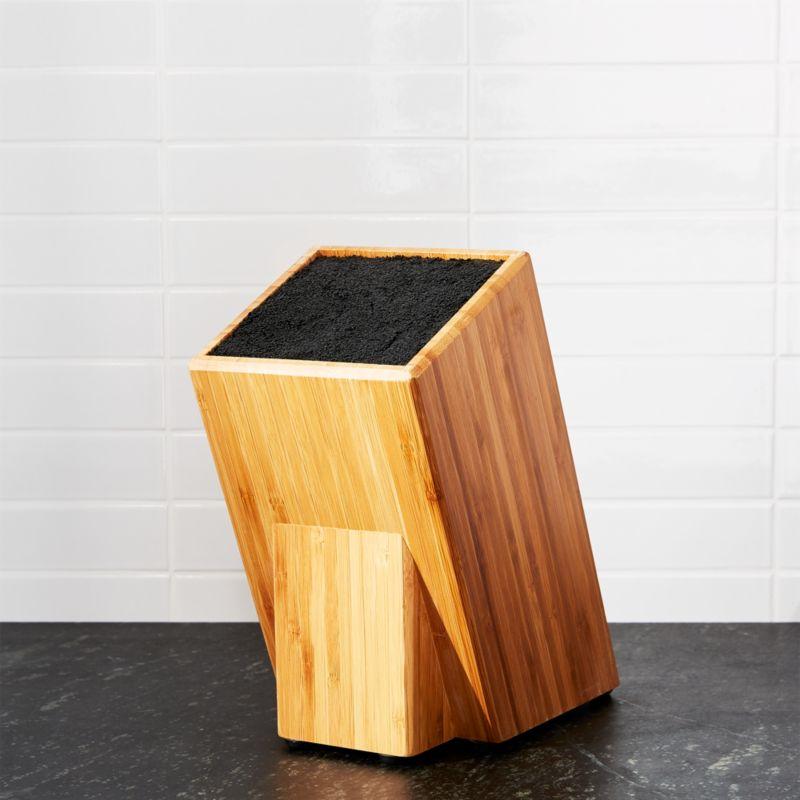 Universal Bamboo Knife Block Reviews Crate And Barrel