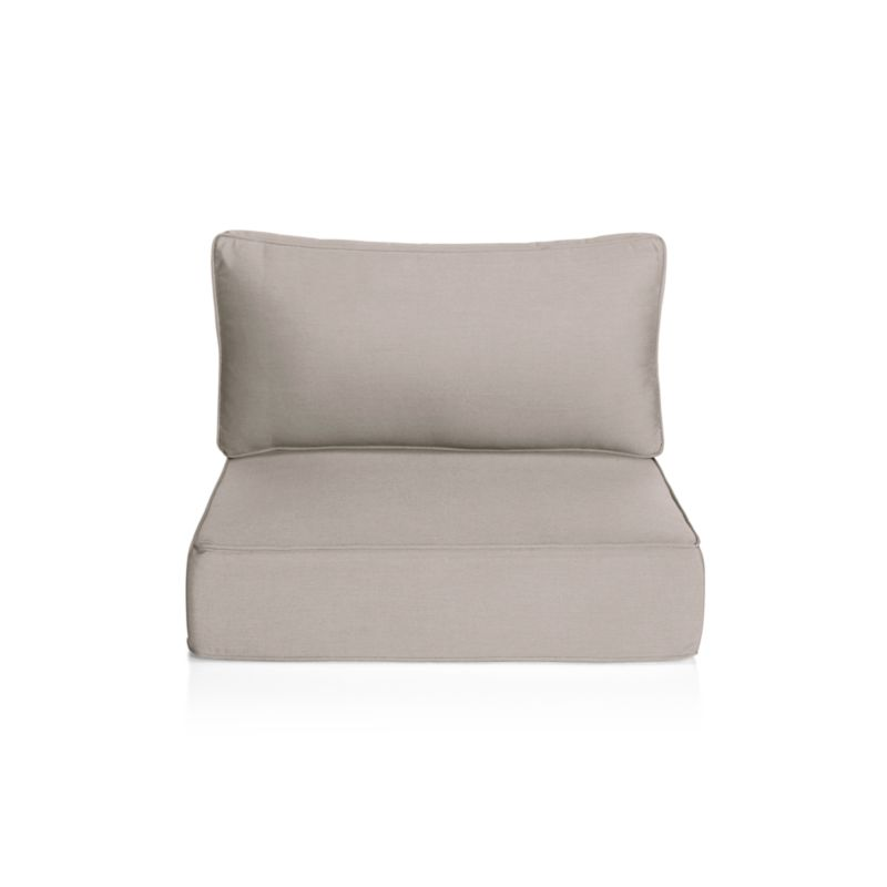acrylic chairs with cushions wheelchair toy ventura grey outdoor chair cushion reviews crate and barrel