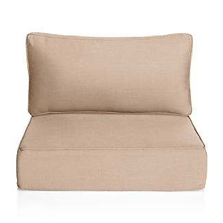 lounge chair cushions cheap covers for rent toronto crate and barrel ventura stone sunbrella modular