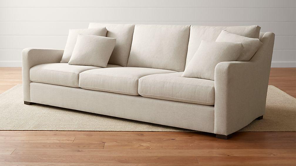 crate and barrel verano sofa harveys leather sofas reviews cream extra deep |