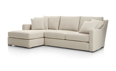 crate and barrel verano sofa traditional leather sectional sofas 2-piece left arm chaise aurora ...