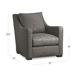 Crate And Barrel Verano Sofa Smoke Wingback Sofas Grey Accent Chair |