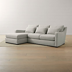 crate and barrel verano sofa buy cushion covers ii slope arm reviews 2 piece left chaise sectional