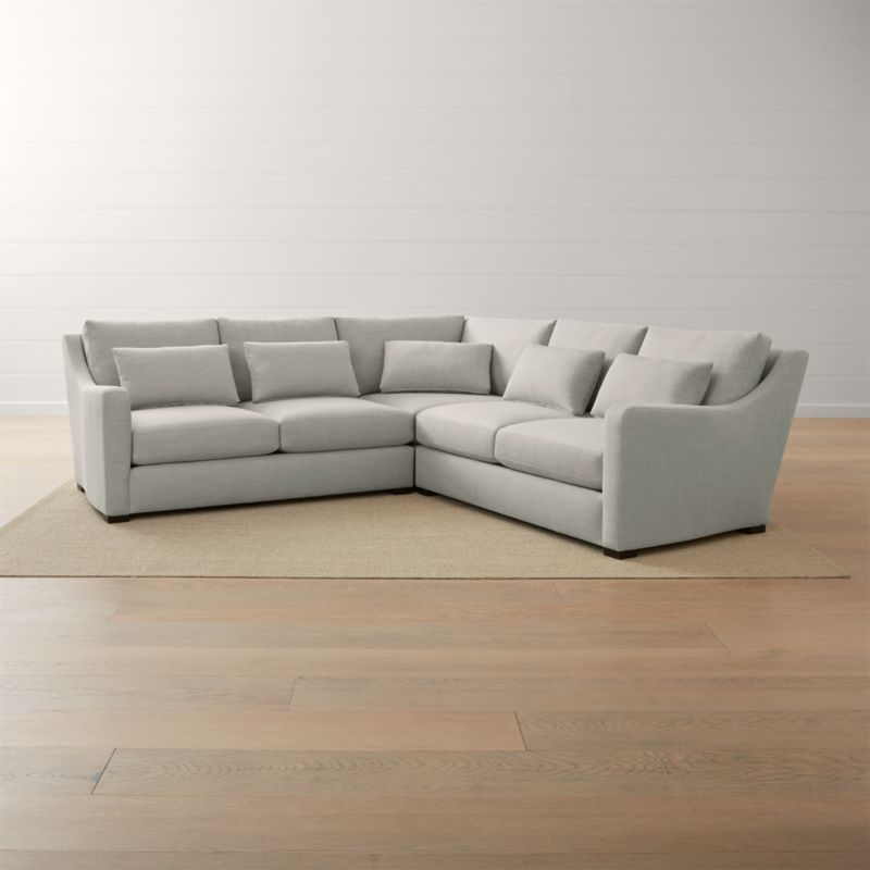 crate and barrel verano sofa block legs ii 3 piece slope arm sectional reviews veranoii3pcralalvstcornrcldshs18 1x1