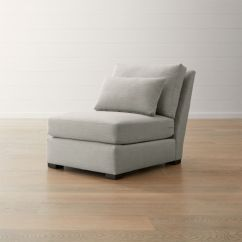 Crate And Barrel Armless Chair Pewter Verano Ii Reviews