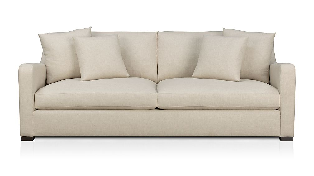 crate and barrel verano sofa one cushion sofas |