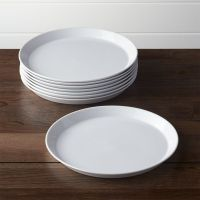 Set of 8 Verge Dinner Plates | Crate and Barrel