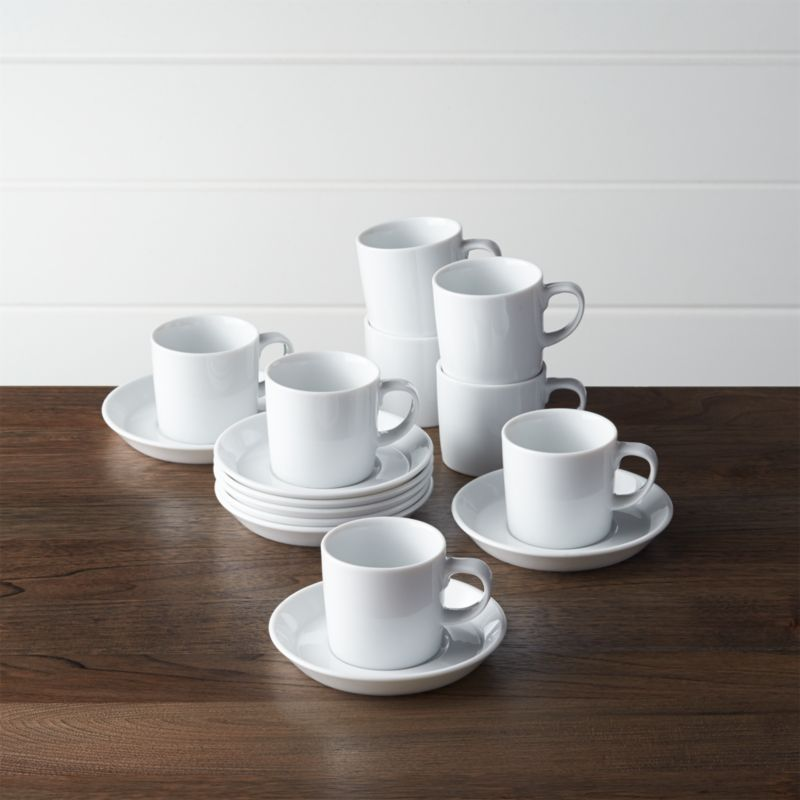 office chair reviews hanging ebay set of 8 verge 4 oz. espresso cups and saucers + | crate barrel