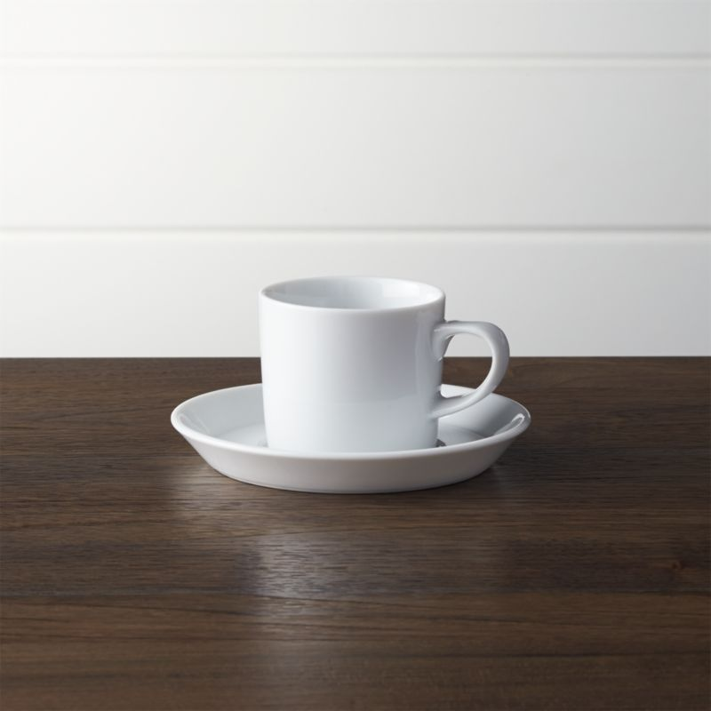 Verge Espresso Cup and Saucer  Crate and Barrel