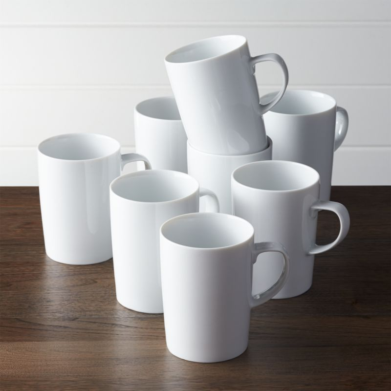 Set Of 8 Verge Latte Mugs Crate And Barrel