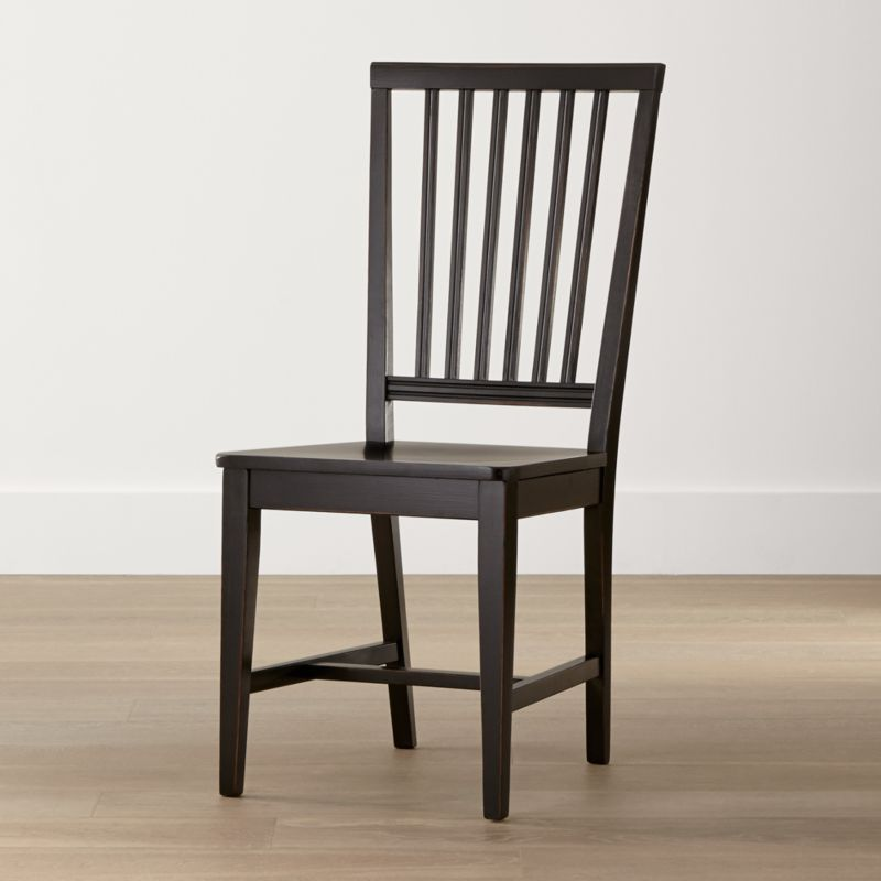 black side chair yellow banquet covers village bruno wood dining reviews crate and barrel