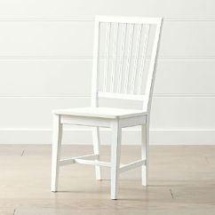 White Wooden Chair For Desk Kitchen Island And Chairs Wood Crate Barrel Village Dining