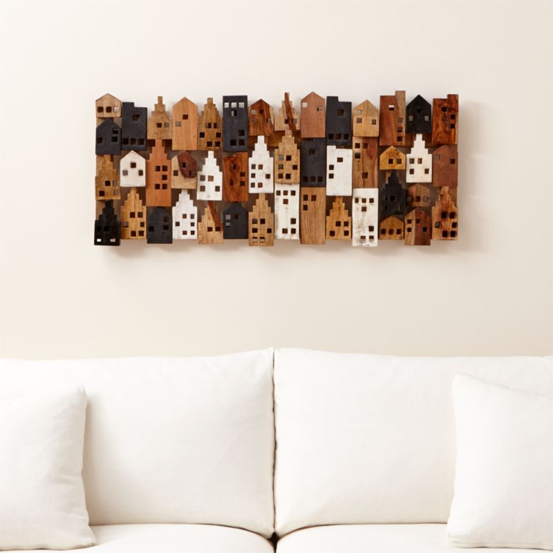 Village Rectangular Wall Decor  Reviews  Crate and Barrel