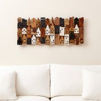 Village Rectangular Wall Decor
