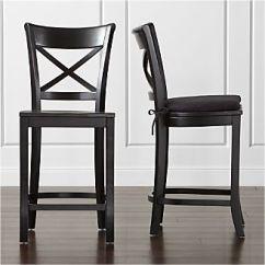 Stool Chair Big W Bedroom Deck Bar Stools And Counter Wood Metal More Crate Barrel Vintner Black